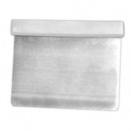 Loyal Flexi Scraper 12x10cm Stainless Steel-White Handle