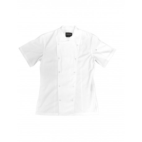 AUSSIE CHEF Alex Press Stud Jacket WhitePro Chef,Cooks Plus