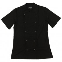 AUSSIE CHEF Alex Press Stud Jacket Black Pro Chef,Cooks Plus