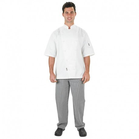 PROCHEF Traditional Chef Jackets Short Sleeve WhitePro