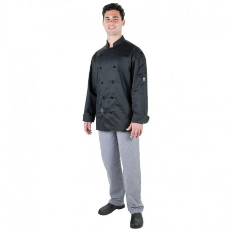 PROCHEF Traditional Chef Jackets Short Sleeve BlackPro