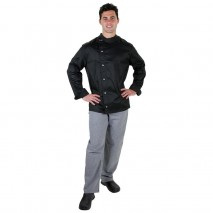 PROCHEF Modern Tunic Chef Jacket Long Sleeve Black Pro