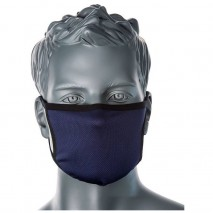 Portwest Face Mask Antimicrobial 3Ply CV33 Navy SINGLE