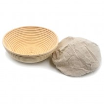 Brunswick Bakers 20cm Round banneton/proofing basket with lining