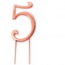 ROSE GOLD Cake Topper (7cm) - NUMBER 5Bake Group,Cooks Plus