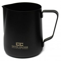 Coffee Culture Matte Black Milk Frothing Jug 350ml Coffee