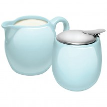 Avanti Camelia Ceramic Milk and Sugar Set Duck Egg Blue Avanti