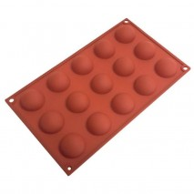 Silicone Hemisphere Mould 15 cup Cake Craft,Cooks Plus