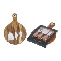 Tempa Fromagerie Round Cheese Board 4pc set