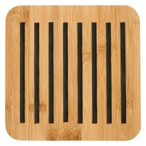 Ladelle Classic square charcoal bamboo trivet