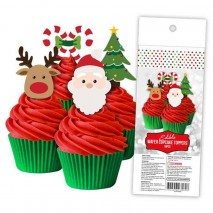 Cake Craft Christmas Wafer Toppers