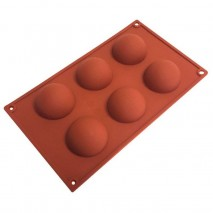 6 Cup Hemisphere Silicone Mould