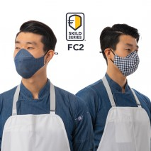 SKILD SERIES FC2 FACE COVERING MASK - 6 pack Chef Works,Cooks