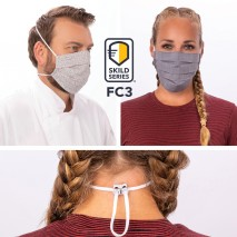 SKILD SERIES FC3 FACE COVERING MASK- 6 pack Chef Works,Cooks