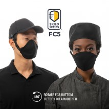 SKILD SERIES FC5 FACE COVERING MASK- 6 pack Chef Works,Cooks