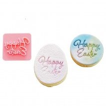 Happy Easter Script Cookie Stamp