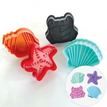 Cake Craft Plunger Set Sea Creatures 4pc