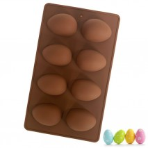 Easter egg silicone mould - 8 egg