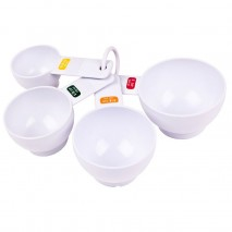 Appetito Measuring Cups white set of 4