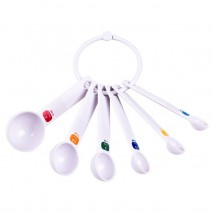 Appetito Measuring Spoons white set of 6