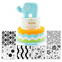Cake Craft Modern Texture Sheets 6pc