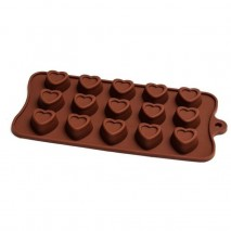 EMBOSSED HEART Silicone Chocolate Mould
