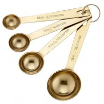 Ladelle Lawson Gold Set of 4 Measuring Spoons
