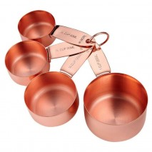 Ladelle Lawson Copper Set of 4 Measuring Cups