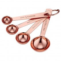 Ladelle Lawson Copper Set of 4 Measuring Spoons