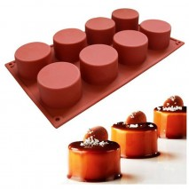 Cake Craft Mini Cylinder Silicone Mould 8 cup