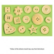 Mould Craft Assorted Buttons Silicone Mould