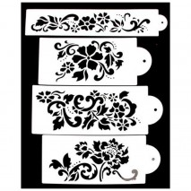 Cake Craft Floral Stencil Set 4 pc