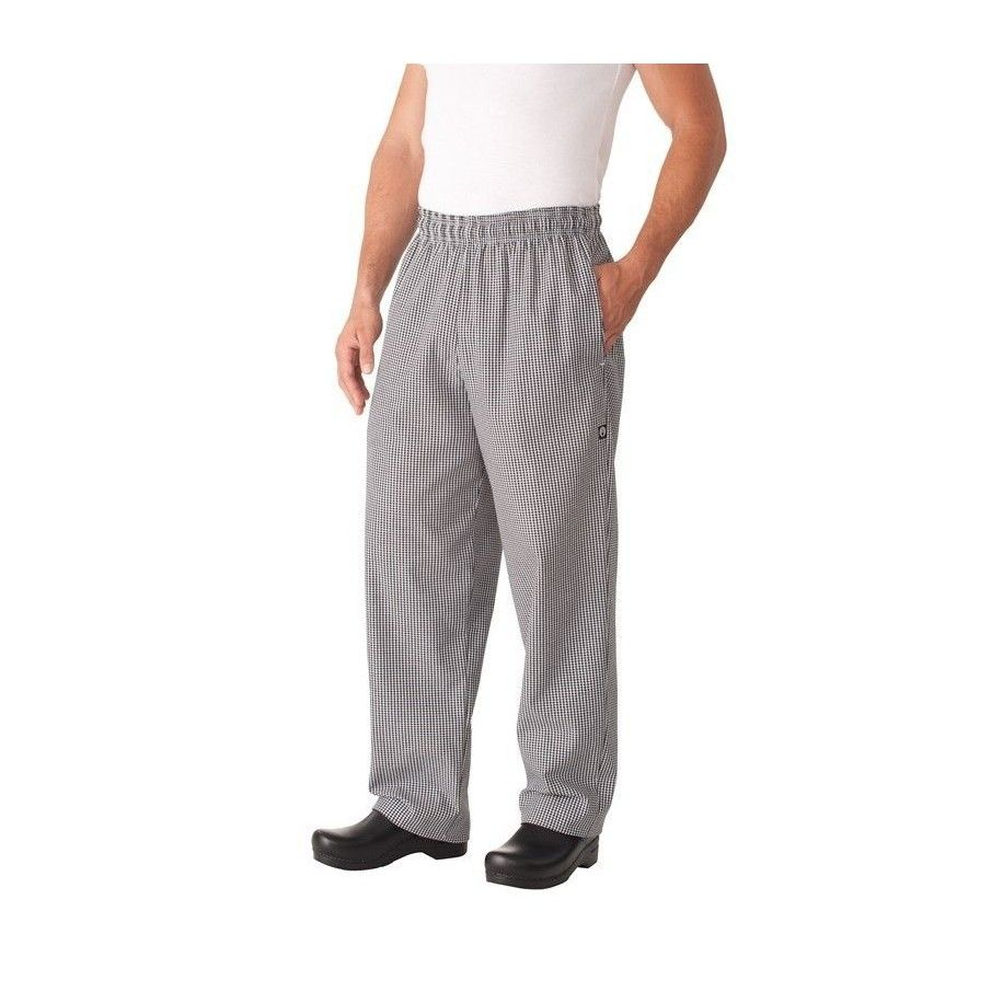Chef Works Small Check Baggy Pants NBCP XS-XXXL