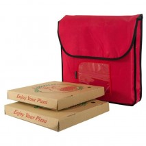 Insulated Food Delivery Bag Red 45cm x 45cm x 10cm