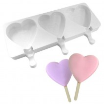 Cake Craft Heart Popsicle Silicone Mould Cake Craft,Cooks Plus