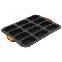 Bakemaster Silicone 12Cup Mini Loaf Pan 35.5 X 24.5CM (9 X 5 X
