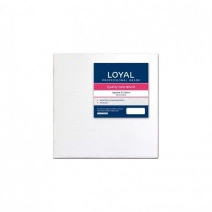 Loyal Cake Board - White - Square - 20cm / 8 inch Loyal,Cooks