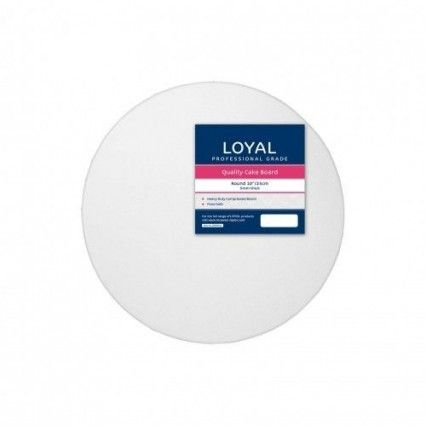 Loyal Cake Board - White -Round - 25cm / 10 inch Loyal,Cooks