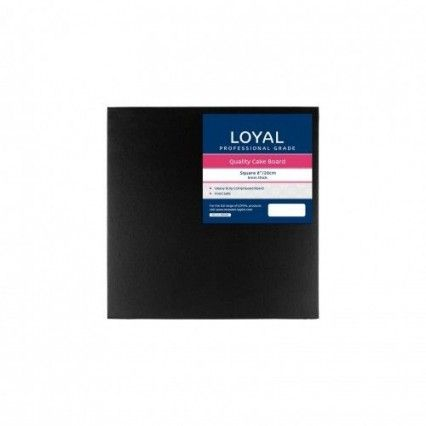 Loyal Cake Board - Black - Square - 20cm - 8inLoyal,Cooks Plus