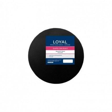 Loyal Cake Board Black Round 20cm 8 inch Loyal,Cooks Plus