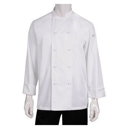Chef Works Murray White L/S Basic Chef Jacket MUCC XS-XXXL