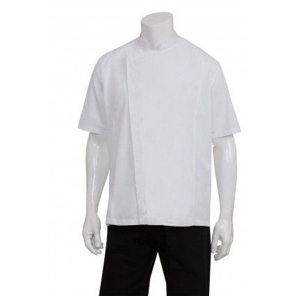 Chef Works Springfield Mens Zipper Chef Jacket BCSZ009-W XS-XXXL