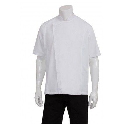 Chef Works Springfield Mens Zipper Chef Jacket BCSZ009-W XS-XXXL
