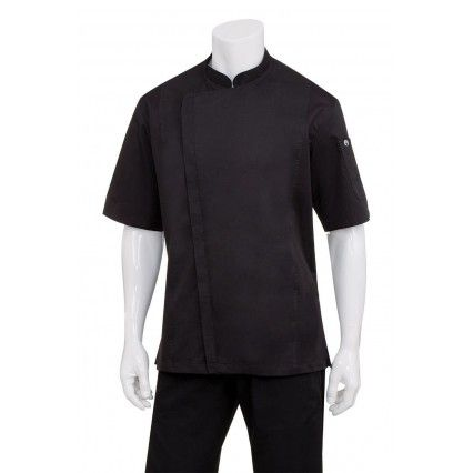 Chef Works Cannes Snap Jacket Black - SSSN - XS-3XL