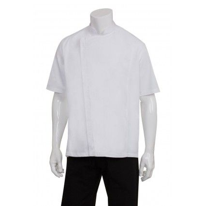 Chef Works Cannes Snap Jacket White - SSSN - XS-XLChef