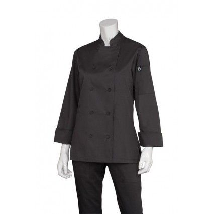 Chef Works Marbella Womens Black Jacket CWLJ-BL Chef