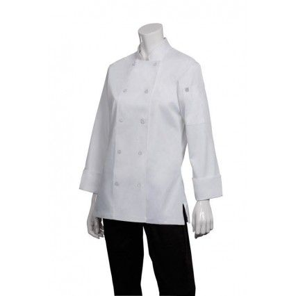 Chef Works Marbella Womens White Jacket