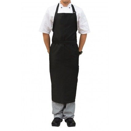 Chef Works Bib Apron Large - Black - A111Chef Works,Cooks Plus