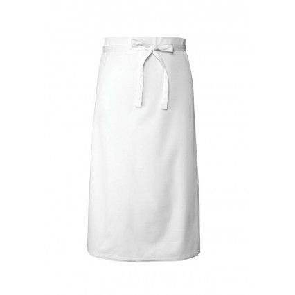Chef Works Bar Apron 3/4 White - B3 Chef Works,Cooks Plus