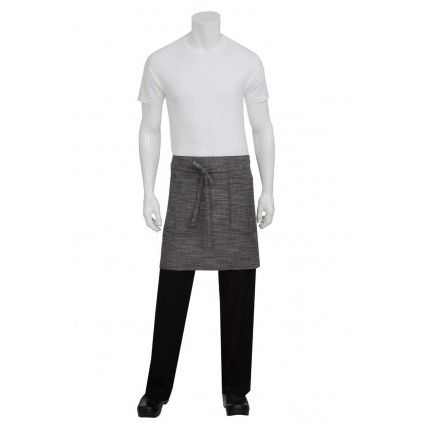 Chef Works Corvallis 1/2 Apron - Black/Grey - AHWXX012Chef